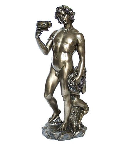 Jim Shore Veronesse Bacchus Figur Gott des Weines Dionysus Plastik Bronzeoptik