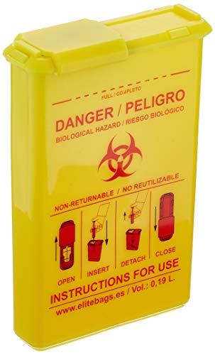 Elite Bags QVM-00077/02 - Combio\'s contenedor material biocontaminado de bolsillo amarillo