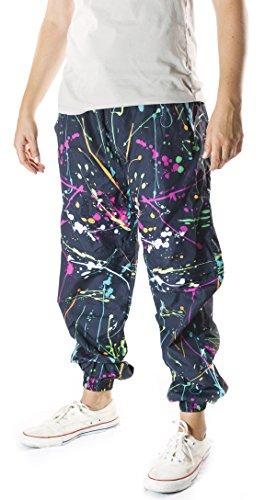 Neon Paint Splatter Windbreaker Pants