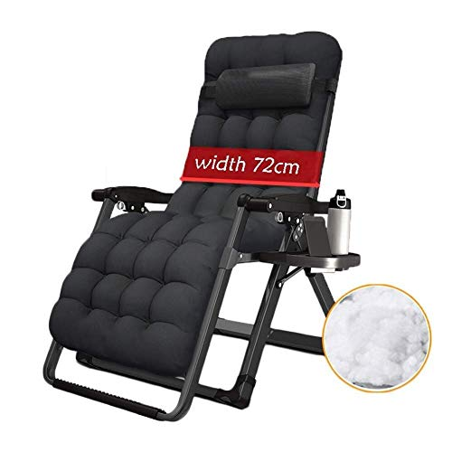 Oversized Zero Gravity Chair Reclining for Heavy People Sun Lounger Outdoor Camping Foldable Portable Chairs with Cushions Zero Gravity Chairs for Family Lounge