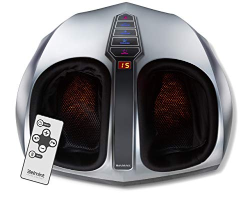 DELIVERS POWERFUL RELIEF: The Belmint shiatsu foot massager is a powerful deep-kneading massager to relieve tired muscles, plantar fasciitis, neuropathy, chronic pain, muscle tension & improves blood flow. OPTIONAL HEAT FUNCTION: Built-in Infrared sw...