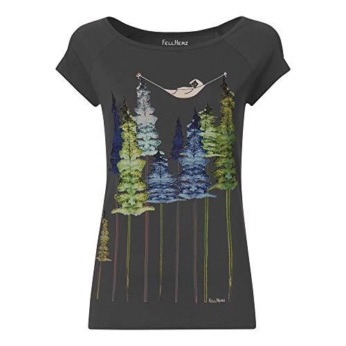 T-Shirt aus Bio-Baumwolle `Hängematte im Wald`
