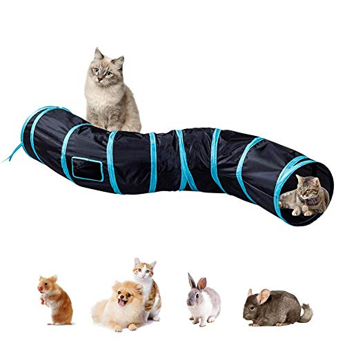 N/I Cat Tunnel Toy, Cat Tunnel Tube, Dog Agility Traning Pet Play Run Through Game Toy Collapsible Tunnel For Cat Puppy Kitten And Rabbit