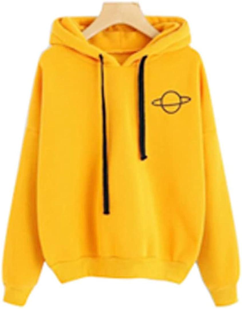 Xingge Girl Student Loose Casual Printed Hooded Sweater