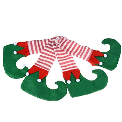 Eshylala 4 Pieces Christmas Table Leg Covers Socks Christmas Chair SocksTable Chair Leg Covers Caps