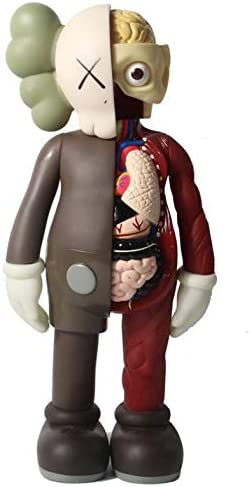 KAWS Anatomy Doll Model Toy 37 cm brown