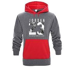 MFsports Jordan Impresión Sudadera con Capucha para Hombre ...