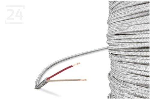 Glasseide-Kabel / Glasseide-Leitung, 2-Leiter, 50 Meter