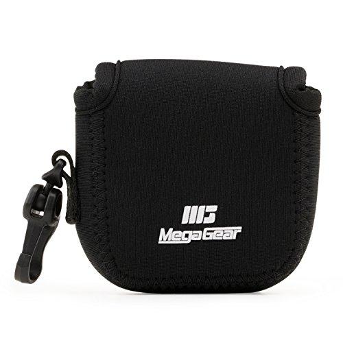 MegaGear MG1311 GoPro Hero 7, Hero 6, Hero 5, Sony DSC-RX0 Ultraleichte Kameratasche aus Neopren, mit Karabiner Haken - Schwarz