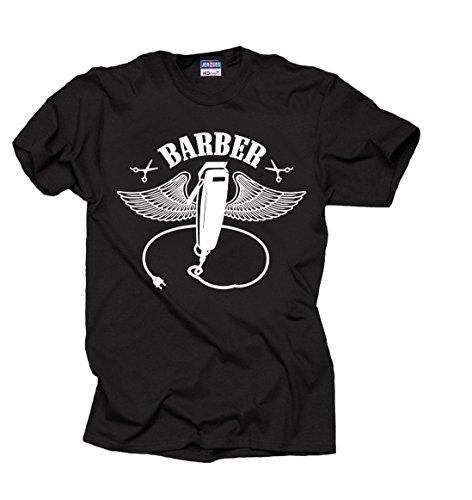 Milky Way Tshirts Barbero Barbero Camiseta Camisa de los Hombres Large Negro