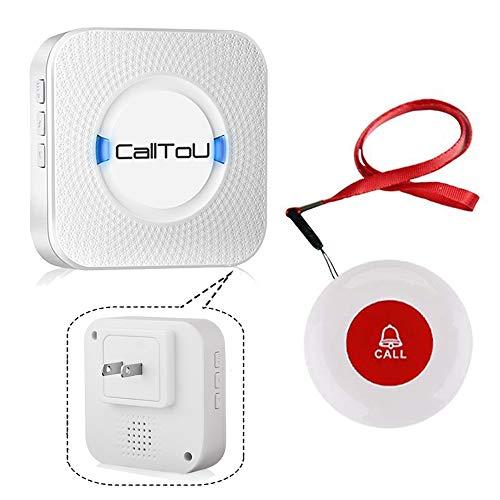 CallToU 呼び出しベル 高齢者 コール 介護 呼び出し ワイヤレス コールボタン 在宅患者 看護師方へ 高齢者 障害者 1受信器&1防水 発信機