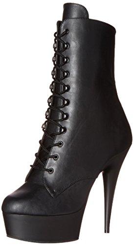 Pleaser Delight-1020 - Botas Mujer, Negro (Schwarz (Blk Faux Leather/Blk Matte)), 39...