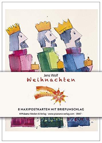 Maxi-Postkarten-Serie Weihnachten: 8 Maxipostkarten mit Umschlägen von Jens Wolf