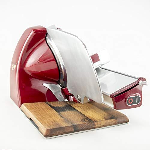 Berkel – Affettatrice elettrica Home Line 250 – Rosso – Nuovo modello 2018 + tagliere realizzato a mano in legno di faggio.