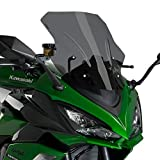 Puig 20471F RACING SCREEN [DARK SMOKE] Kawasaki Ninja1000SX (20-)/ Ninja1000 / Z1000SX (10-19) プーチ スクリーン カウル