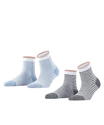 ESPRIT Wide Stripes 2-Pack Damen Socken sortiment (0050) 39-42 aus Biobaumwolle