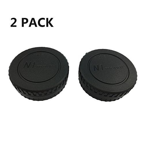 HomyWord 2 Juego Tapa del cuerpo y cubierta de la lente trasera de la cámara para Nikon N1-Mount Nikon 1 N1 Lens y Nikon 1 Mirrorless Cameras J1 J2 J3 J4 V1 V2 V3 S1 S2 AW1
