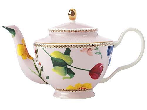 Maxwell & Williams HV0006 Teas & C's Kleine Teekanne mit Teesieb und Contessa Design, Porzellan, Rosa, 500 ml