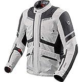 REV'IT! Motorradschutzjacke, Motorradjacke Neptune 2 GTX Textiljacke Silber/anthrazit XL, Unisex,...