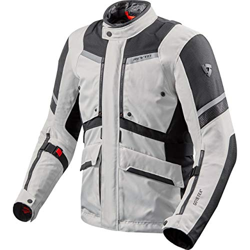 REV'IT! Motorradjacke mit Protektoren Motorrad Jacke Neptune 2 GTX Textiljacke Silber/anthrazit XXL, Unisex, Tourer, Ganzjährig, grau