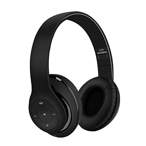 KK Zachary Plegable Música del Deporte del Auricular De La Radio De Bluetooth Auricular For Juegos con Micrófono Bluetooth Auriculares Retráctil Auriculares For Juegos (Color : Black)