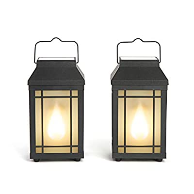 Outdoor Solar Candle Lanterns - Set of 2