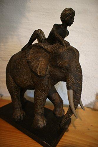Antikas – Indispensable à l'éléphant – Sculpture de Sculpture Bureau Décoration Indienne