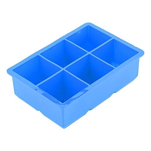 Ice Cube Maker - Silicona Ice Cube Maker 6 cavidades Molde de bandeja de dulces de chocolate Herramientas de cocina para cocinar(Azul)