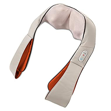 HoMedics Shiatsu Deluxe Neck & Shoulder Massager with Heat | Shiatsu Massager, 3 Speeds, Changes Direction | Muscle Kneading for Neck, Shoulders, Back, Legs, Portable, Convenient Straps | Thera-P