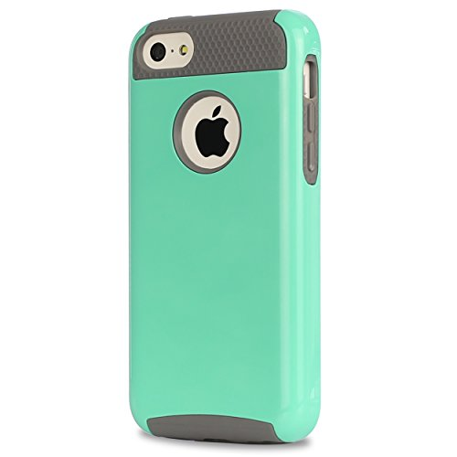Ailun Phone Case Compatible with iPhone 5C,Soft TPU Bumper&Hard Shell Solid PC Back,Shock-Absorption&Anti-Scratch Hybrid Dual-Layer Slim Cover,Siania Retail Package[Mint Green]