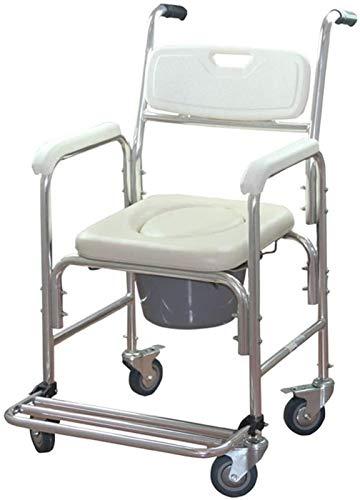 HMMN Silla de Inodoro con Ruedas Plegables, Adecuada para Mujeres Embarazadas con discapacidades Mayores