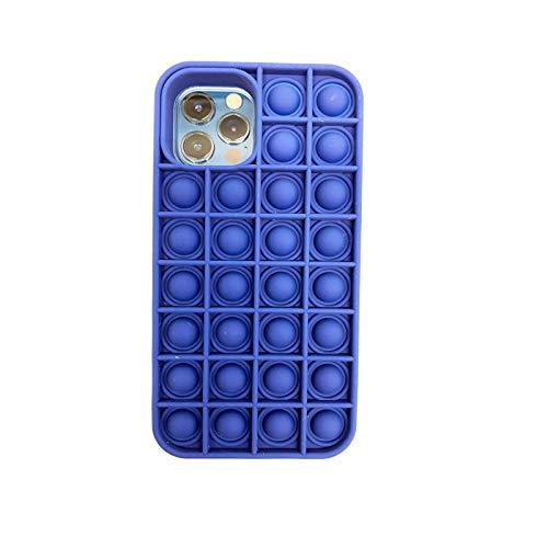 DingHome Estuche de teléfono móvil iPhone12 / 12PRO, Popit Popit Teléfono móvil Burbuja Popper Toy, POP puede aliviar la ansiedad y el autismo, POP (Color : Sky-blue, Tamaño : IPhone12)