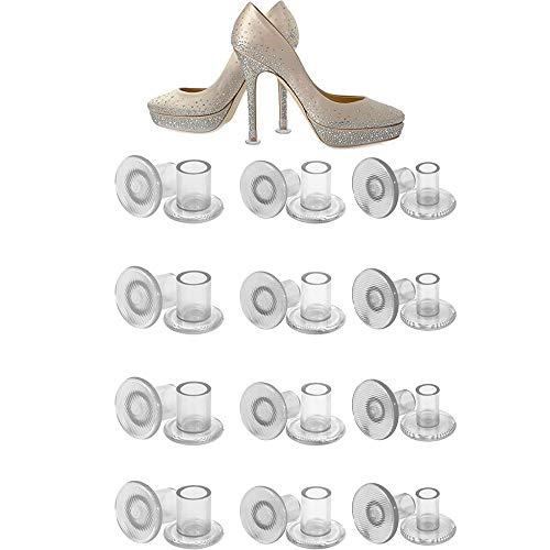 AIDIYA 12 Pack hoge hak beschermers drie maten Stoppers voor kleine/middelgrote/grote Stiletto hoge hakken schoenen - lopen in gras op bruiloften & outdoor evenementen met geen zinken