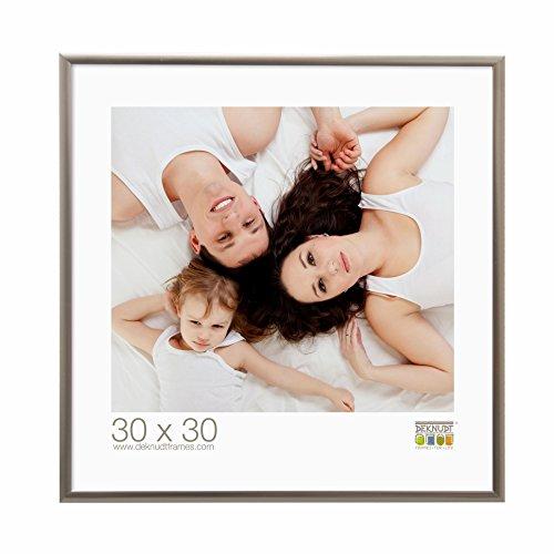 Deknudt Frames S024D7 Cadre Photo Métal Argenté 30 x 30 cm