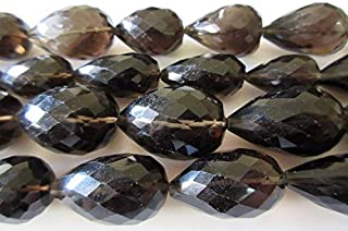Jewel Beads Natural Beautiful jewellery Natural Smoky Quartz Faceted Straight Drilled Tear Drop Briolette Beads, 20mm to 25mm Beads 17 Inch StrandCode:- JBB-22999