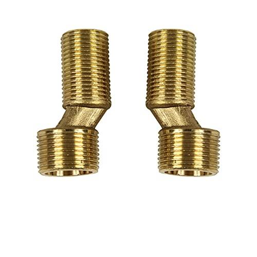 2 grifos de cobre para colgar en la pared, accesorios de tubo extendido, accesorios curvos de 20mm / 25mm de diámetro excéntrico