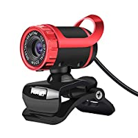 マイク内蔵ウェブカメラ SkypeのAndroidテレビ回転式コンピューター特殊効果カメラウェブカメラ用吸収マイクマイク付き480pウェブカム