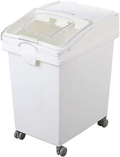 Céréales stockage de haricots Ingrédients Boîte de rangement avec couvercle coulissant en plastique mobile de stockage ave...