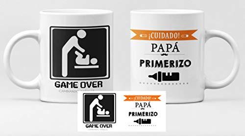 Desconocido Taza de cerámica felicidades Papa. Día del Padre, Cuidado! papá primerizo. Game Over