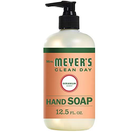 MRS. MEYER'S CLEAN DAY Liquid Hand Soap, Geranium, 12.5 Ounce Bottle