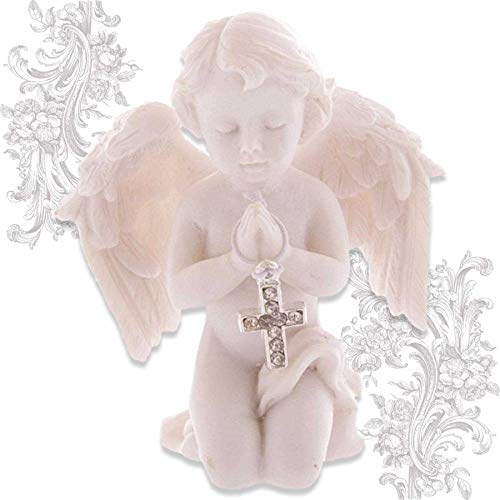 mtb more energy Deko Engelchen ''Protecting Angel'' - Engel Schutzengel Engelsfigur Cherubinchen - Höhe 8 cm - Dekoration Figur Babyengel