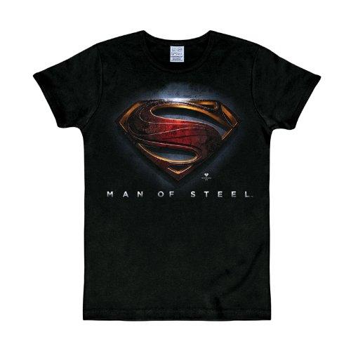 Superman - Canotte - Logotipo - Basic - Collo a U - Uomo Nero Small