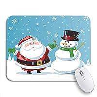 NINEHASA 可愛いマウスパッド 冷ややかなサンタクロース雪だるまクリスマス漫画冬の休日マジックノンスリップラバーバッキングマウスパッドノートブックコンピュータマウスマット