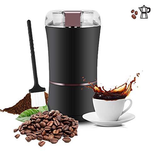 Topiky Elektrische koffiemolen, 400 watt, 3 ounces elektrische koffiemolen, instelbare maalgraad met roestvrij stalen lemmet voor bonen, noten, zaden, kruiden, specerijen