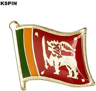 Handsome Enamel Lapel pins - Sri Lanka Flag Lapel Pin 19 x 16mm Hat Tie Tack Badge Pin - Unique Pins and Brooches