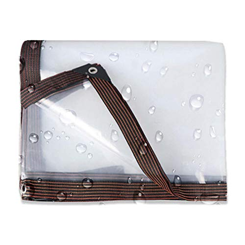 ZHCHL Lona Impermeable Transparente 4x10m, Lona Transparente con Ojales, Lona Suelo Camping Transpirable Lona Plastico Exterior, para Flores, Lona De Invernadero