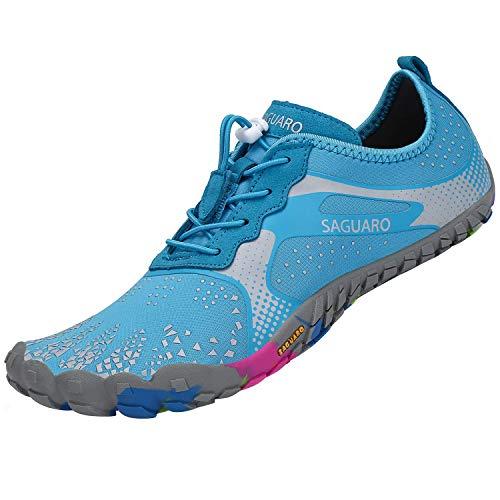Scarpe Running Minimaliste Donna Scarpa da Corsa Scarpette Training Palestra Scarpe Running Azzurro 37 EU