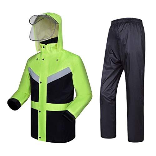 LXESWM Vestes Imperméables Veste Réfléchissante À Capuchon Haute Visibilité Cyclisme/Veste Courante Travail en Plein Air Imperméable Pantalon Moto Imperméable (Couleur : XL)