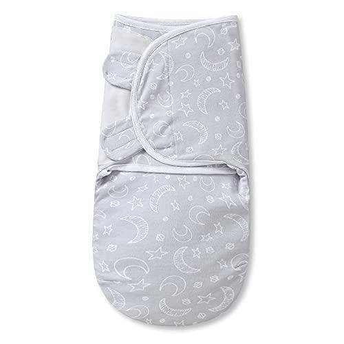 MioRico Mantas Bebés Recien Nacidos Swaddle Mantas Bebé Envolventes 100% Algodón Öko-Tex de Arrullo Cobija Sacos de Dormir para Bebés de 0-3 Meses, Estrellas y Luna