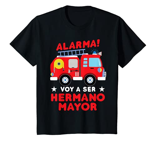 Niños Voy a ser Hermano Mayor Camión de bomberos Anuncio del bebé Camiseta